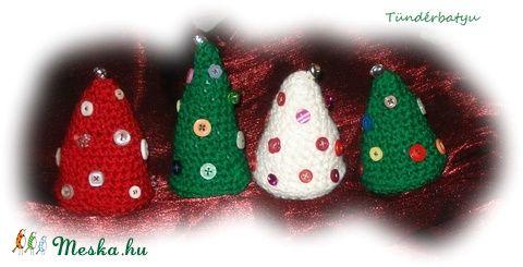 Horgolt karácsonyfa dekoráció  (Tunderbatyu) - Meska.hu