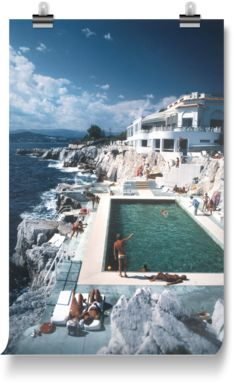 Guests by the pool at the Hotel du Cap Eden-Roc, Antibes, France, 1976.
