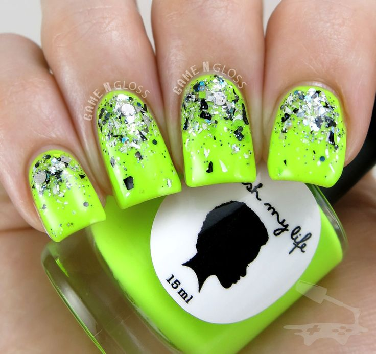 Glitter Nails Manicure Makeover Game For Girls By: 17 Best Images About Neon Glitter Nail Art Design Gallery