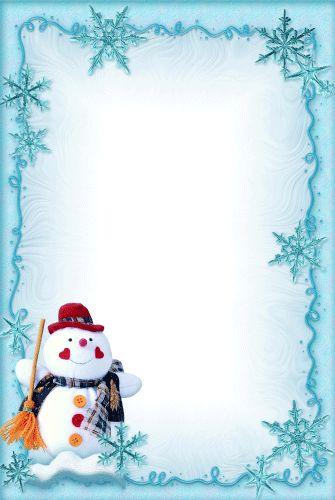 Зимние рамки для фотошопа со снегом и сосульками