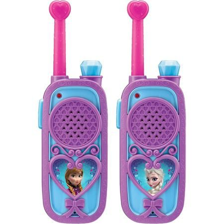 Really cute #Frozen Walkie Talkie set featuring Anna and Elsa.  So Cute!  Best Toys for 7 Year Old Girls - The Perfect Gift Store ♥ CLICK HERE!