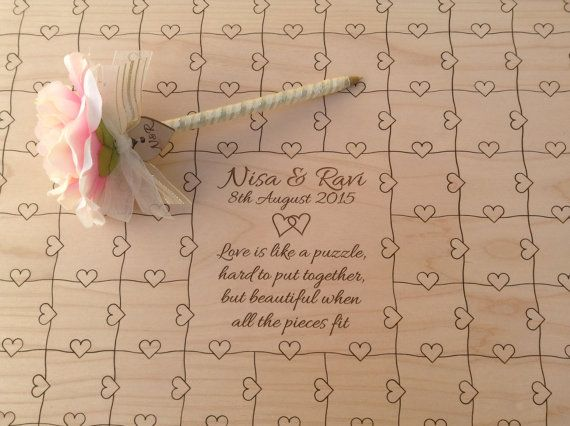 200-300 pcs Wedding Guest Book Heart by NorthernOwlCreations