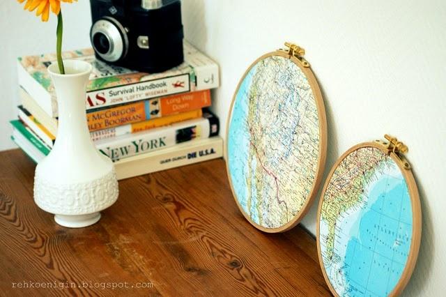 habe ich schon mal gesagt, dass ich Landkarten-Deko liebe? <3
