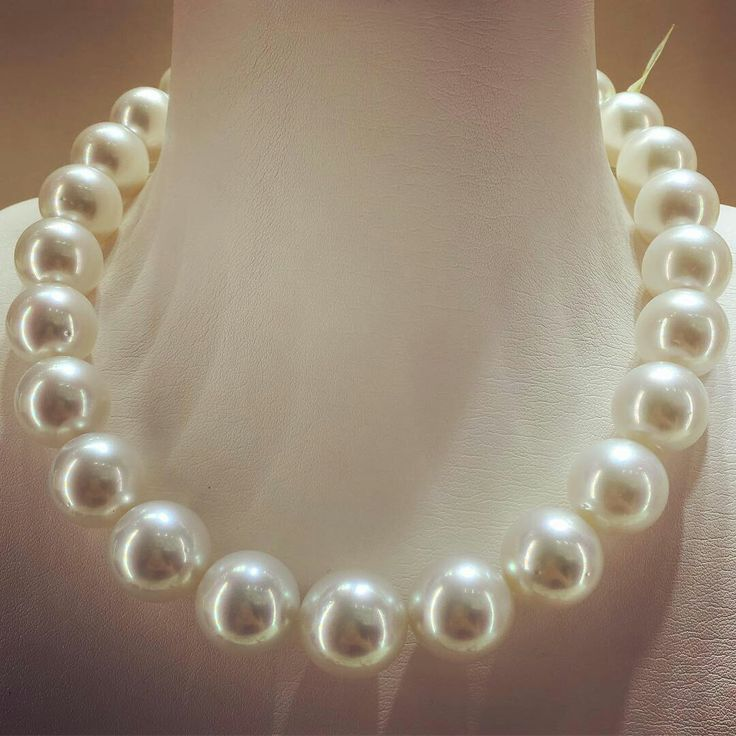 @yokolondonpearls. One of the rarest pieces..Featuring 17 x 19.1mm South Sea pearls, this necklace is unique for the incredible size of the pearls and the memorising quality and lustre of each individual gem.