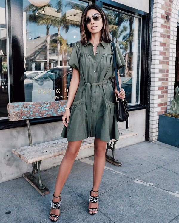 ae5b745bf02adbd Самые красивые платья-рубашки 2018-2019 года: модные платья-рубашки в  разных стилях, фото