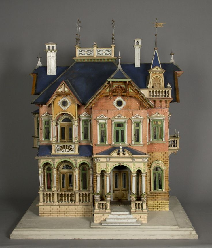 Victorian Dollhouses | Blue Roof Victorian Mansion, 1890, courtesy of The Strong, Rochester ...