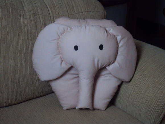 Almofada Elefante rosa | Lines Estilos | 1DEEC1 - Elo7