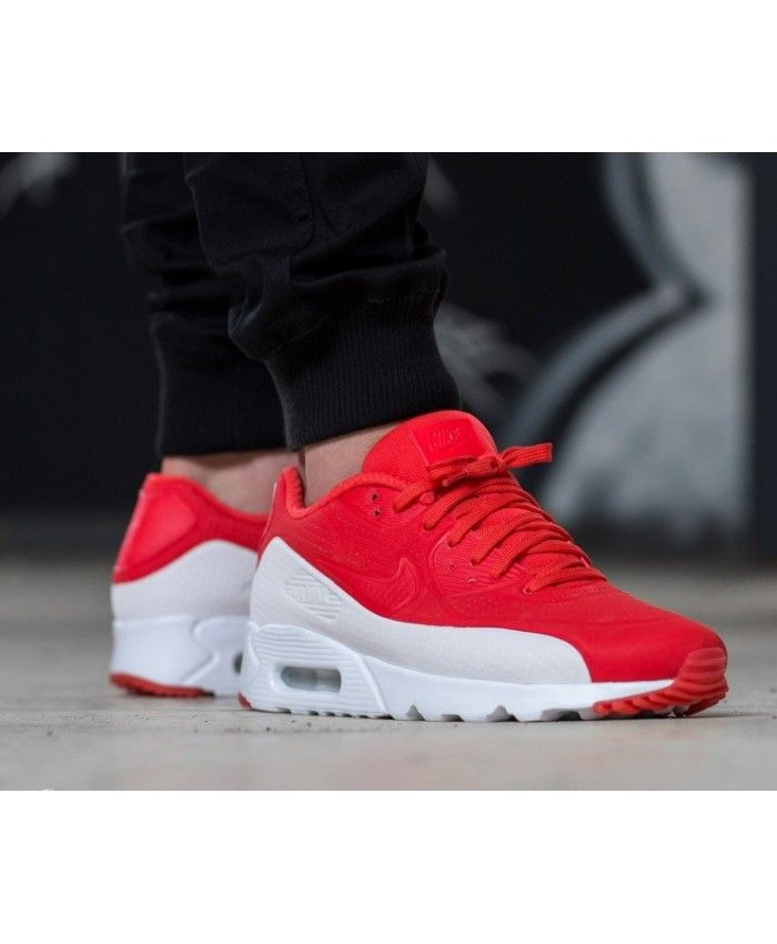 timeless design adf36 47ff6 Nike Air Max 90 Ultra Moire Trainers In Red White