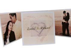 Foto-Hochzeitseinladungen+-+Herz+im+Sand