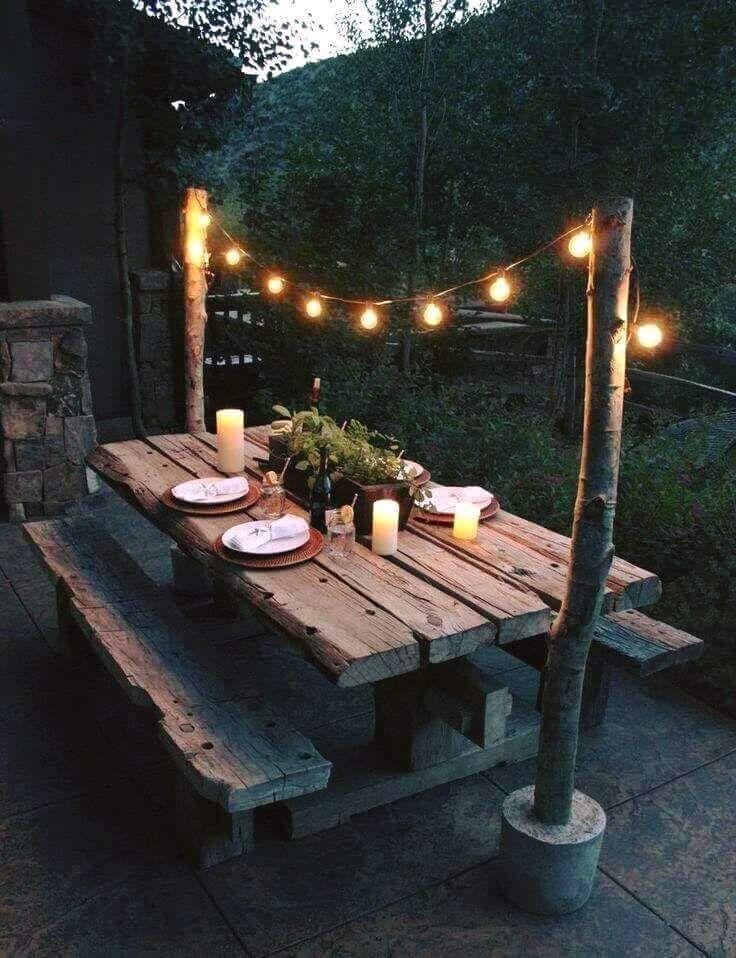 Deko Garten Lichterkette Holz – Vanessa Müller – #Deko #Garten #Holz #Lichterke
