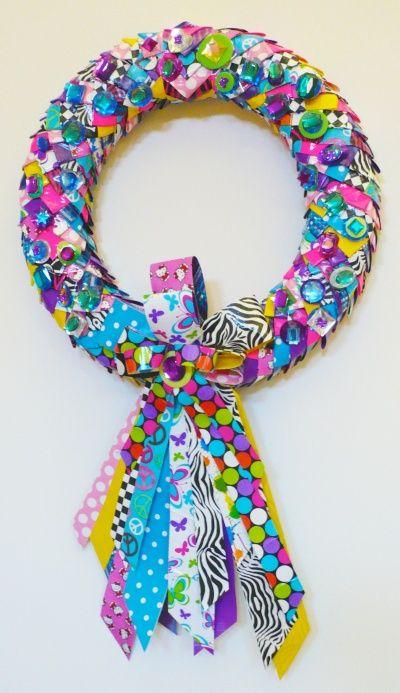 Make a Duck Tape Wreath with Westcott Brand Titanium Bonded Non-Stick Scissors! - Crafting Rocks