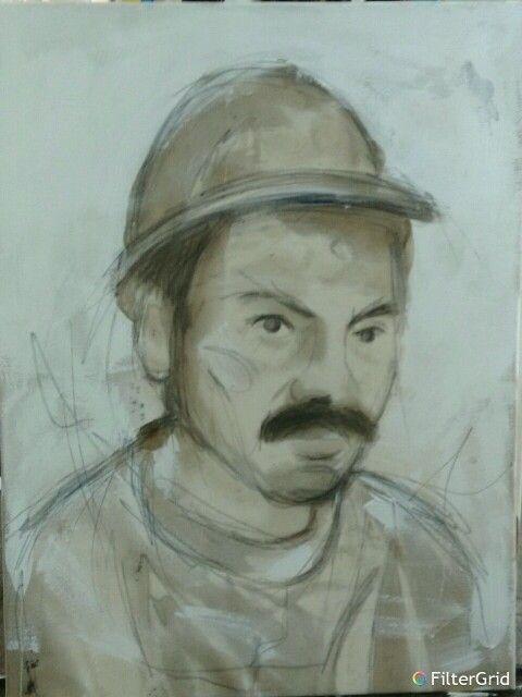 Maden işçi portre