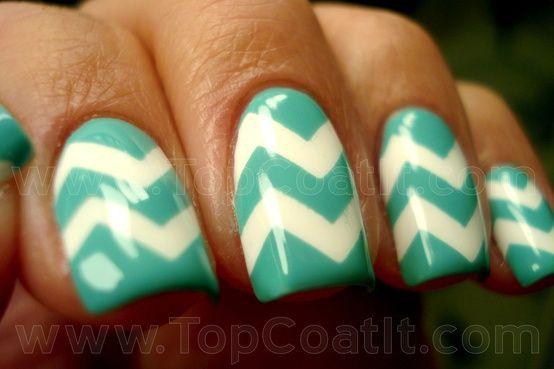 DIY chevron nail art