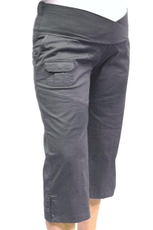 Maternity Plus Size Cargo Pants 3/4 Length
