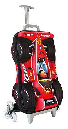 Cabin Max Fenza - Bagaglio a mano per bambini, modello auto da corsa (Rosso)
