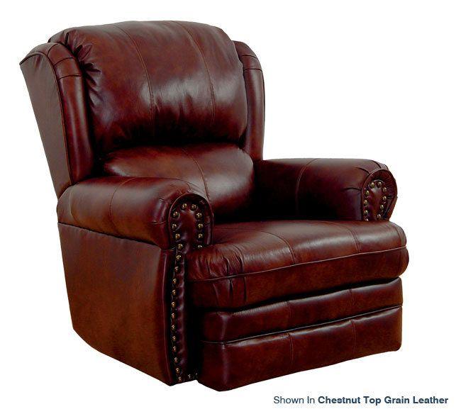broyhill+duracoil+leather+rocker+recliner   Catnapper Buckingham 4110 Top Grain Leather Rocker Recliner