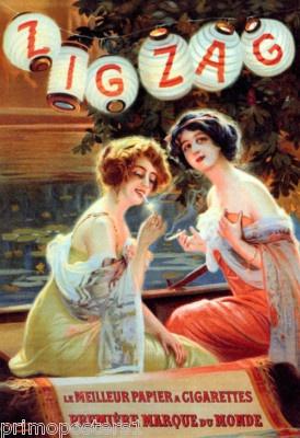 Zig Zag Smoking Cigarettes French Vintage Repro Poster | eBay
