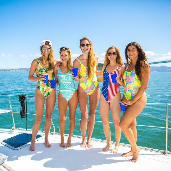 American Woman | Chubbies Women's American Flag Swimsuit – Chubbies Shorts