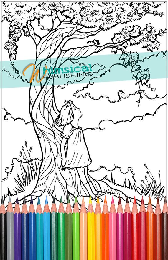 coloring pages for adults trees tree coloring for grown ups girl