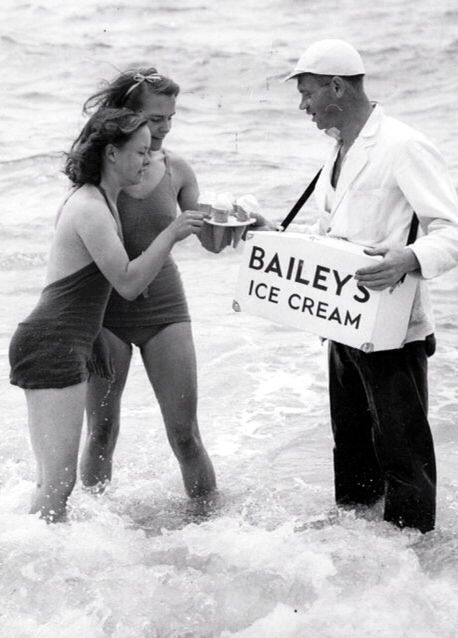 Brighton beach 1939..buying ice cream.