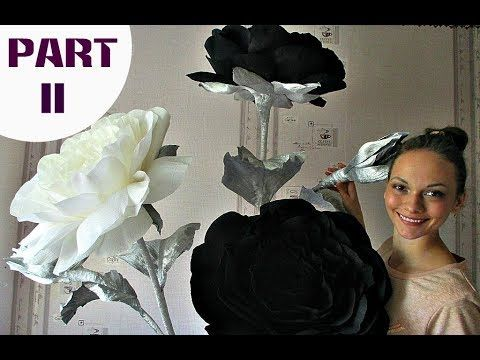 Arrangement of roses   Black and white roses. Part 2 - YouTube