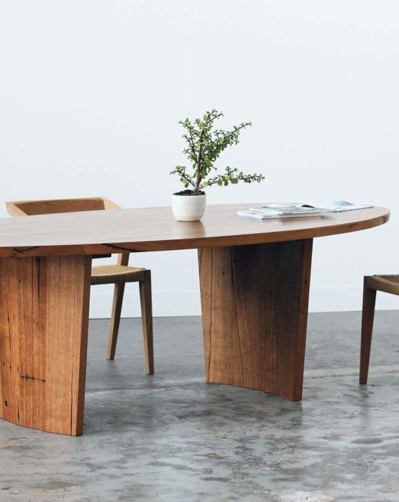 Cosmic Elliptical Dining / Occasional Table - YARD Recycled Timber Furniture MELBOURNE Australia