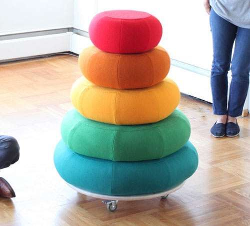 Cumulus Project's Mound of Rounds is Mightily Multifunctional #rainbow #furniture trendhunter.com