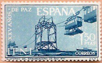 Sello Ifni de 1,50 pesetas, XXV Años de Paz, 1964 - Porltal Fuenterrebollo