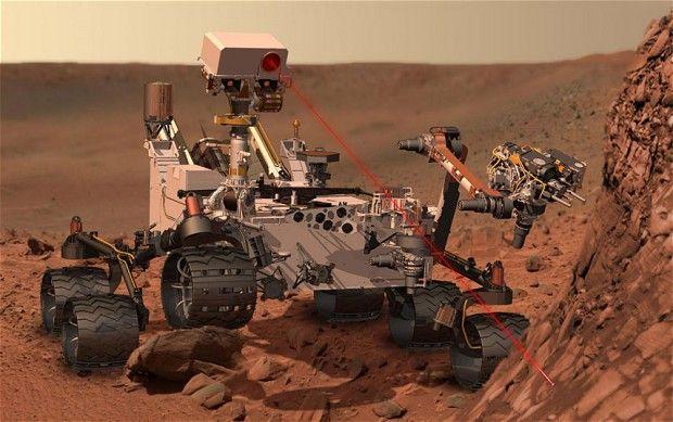 Mars rover Curiosity fires laser at Martian rock
