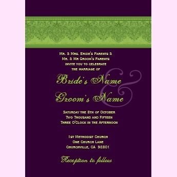 eggplant purple and lime green wedding - Google Search