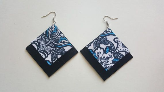 Check out this item in my Etsy shop https://www.etsy.com/au/listing/502667961/geometric-fabric-earring