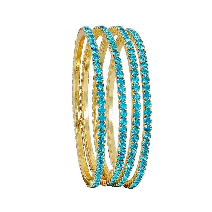 Maayra Dashing Blue Stone Work 2.6 #Bangle	 #onlineshopping	 http://goo.gl/l1COQN