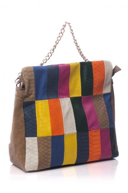 The Bag Shop Geanta din petice colorat