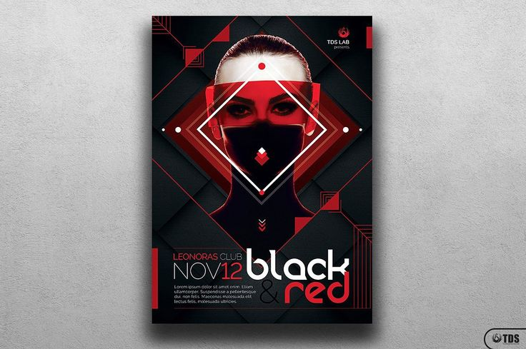 Black & Red Party Flyer Template V4