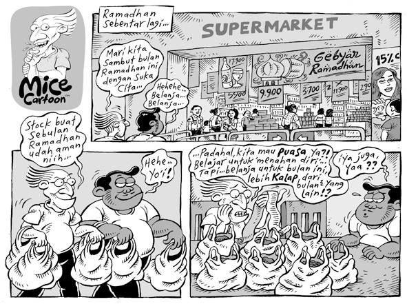 Mice Cartoon: Belanja Ramadhan (Kompas, 07.07.13)