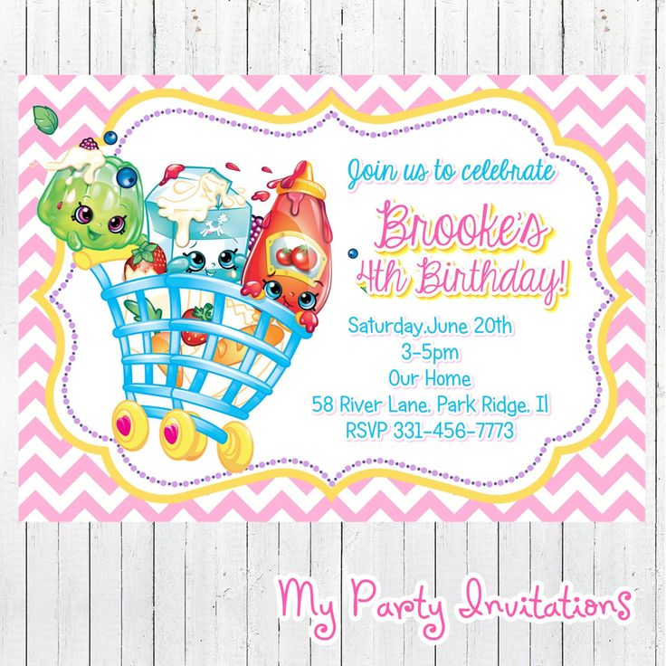 8 best Shopkins Girls birthday party images on Pinterest ...