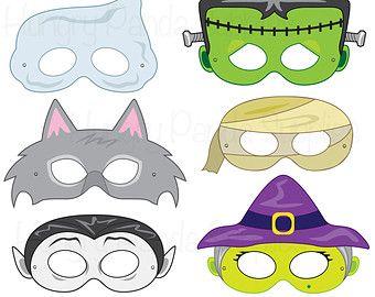 Fantasma de máscaras de Halloween disfraz por HappilyAfterDesigns
