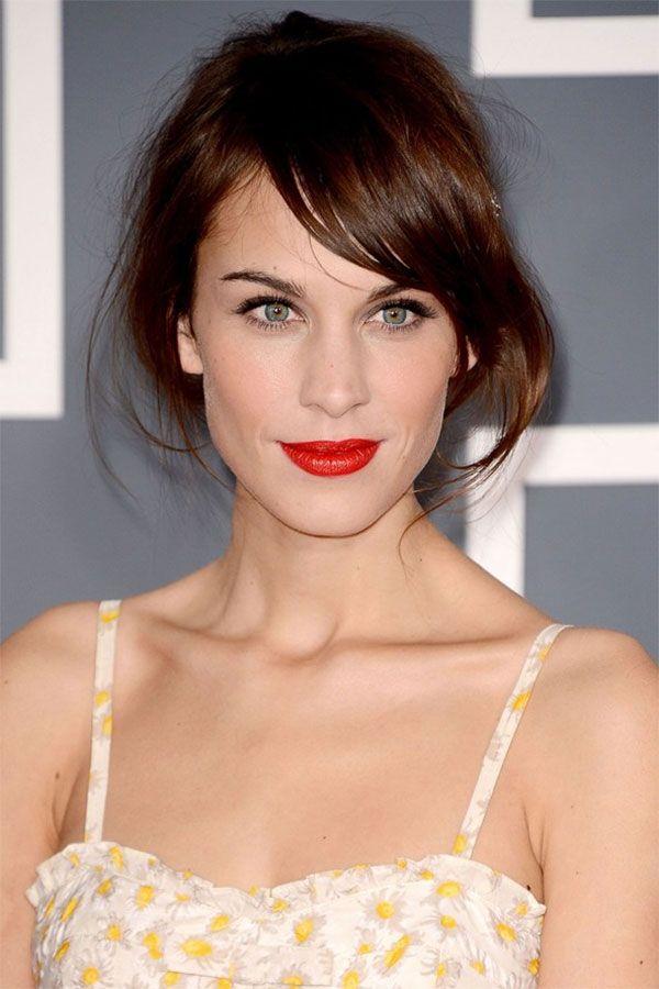 My coloring - fair skin, green eyes, warm dark brown hair.... Red lipstick makes those green eyes go ZING!