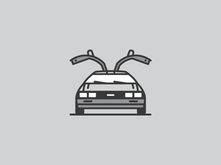 deloreanagain 15 Outstanding Car Illustrations