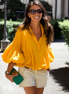 Viviana Volpicella. I LIVE for that blouse.