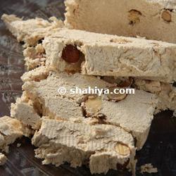 Iranian Halva Dessert Recipe...with saffron, rose water, almonds and pistachios. It sounds divine!