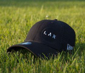 6x6 Lacrosse Designer LAX @neweracaps lacrosse hat (Black)
