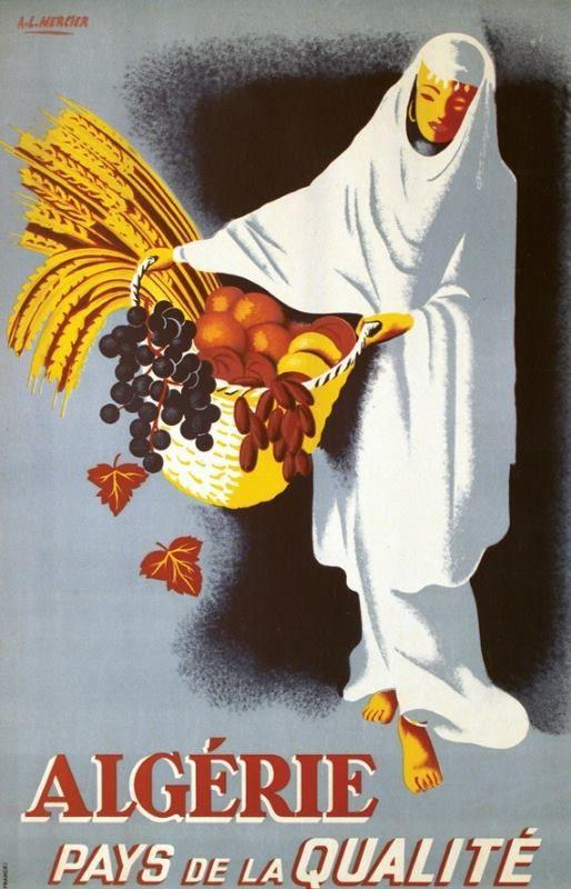 Affiche Algérie. Vintage #Poster #Algeria. Poster Algerien