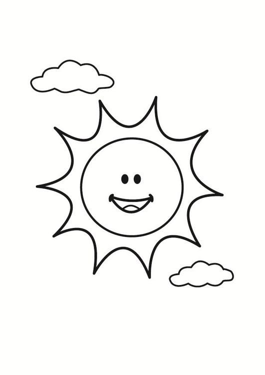 Colouring In Cartoon Sun For Kids Sun Coloring Pages Coloring