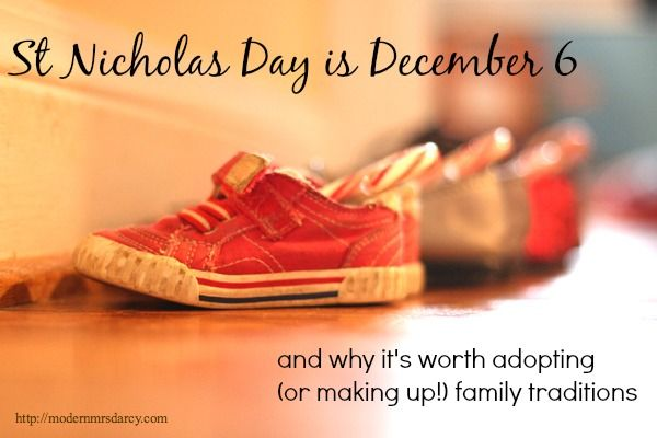 St Nicholas Day is tomorrow, and why it's worth adopting (or inventing) family traditions