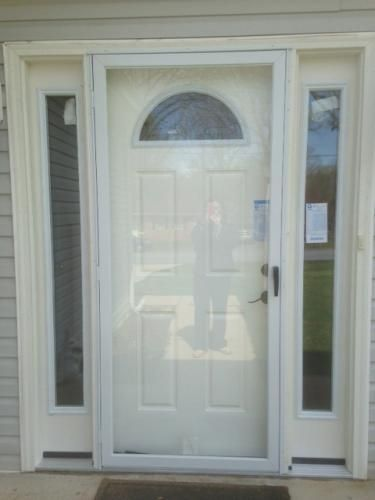 EMCO 36 in. x 80 in. 75 Series White Fullview Storm Door E75FV-36WH at The Home Depot - Mobile