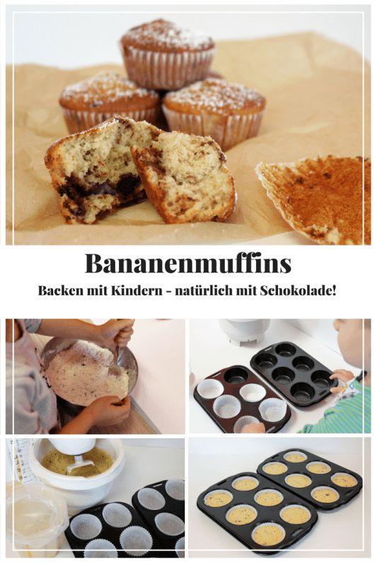Cozimento com crianças – Muffins de banana com chocolate (sem lactose)