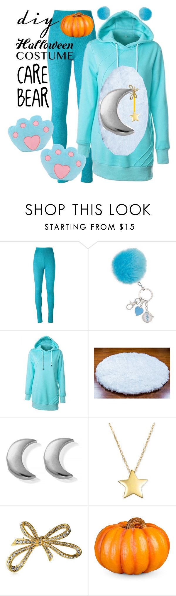"""diy Halloween costume: CARE BEAR "" by hungergame2003 ❤ liked on Polyvore featuring MARIOS, ChloBo, Bling Jewelry and Improvements"