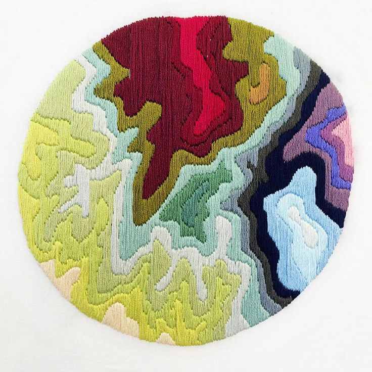 Contemporary Embroidery / Topographic Map / Adventure Inspired / Annie Lang