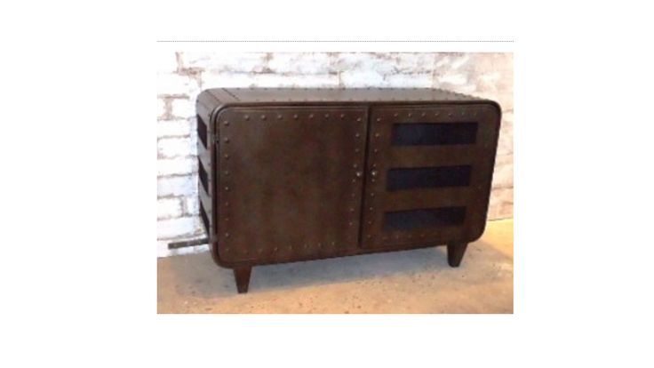 Industrial metal buffet cabinet. Fantastic industrial furniture for a home – kitchen or dining room, office or man cave! The uses are certainly versatile! Please select direct credit option for payment, all furniture freight fees need to be priced on application.